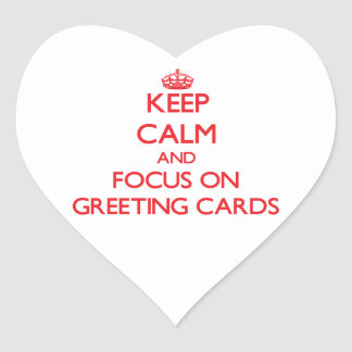 Keep Calm and focus on Greeting Cards Stickers