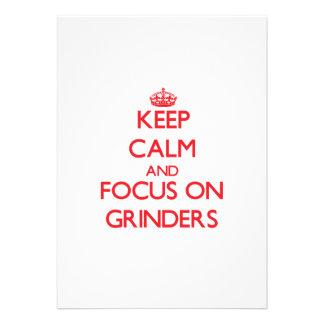 Keep Calm and focus on Grinders Invitations