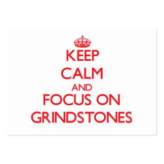 Keep Calm and focus on Grindstones Business Card Template