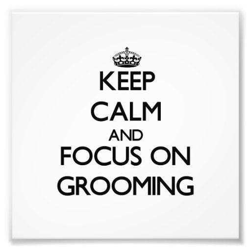 Keep Calm and focus on Grooming Photograph