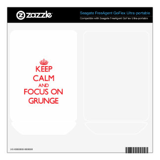 Keep Calm and focus on Grunge FreeAgent GoFlex Decals