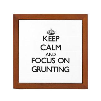 Keep Calm and focus on Grunting Desk Organizer