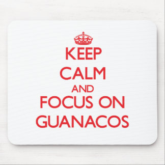 Keep calm and focus on Guanacos Mousepads