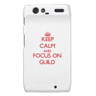 Keep Calm and focus on Guild Motorola Droid RAZR Case