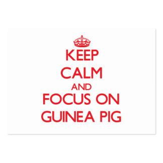 Keep Calm and focus on Guinea Pig Business Card Templates