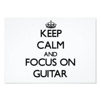 Keep Calm and focus on Guitar Announcements