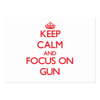 Keep Calm and focus on Gun Large Business Cards (Pack Of 100)