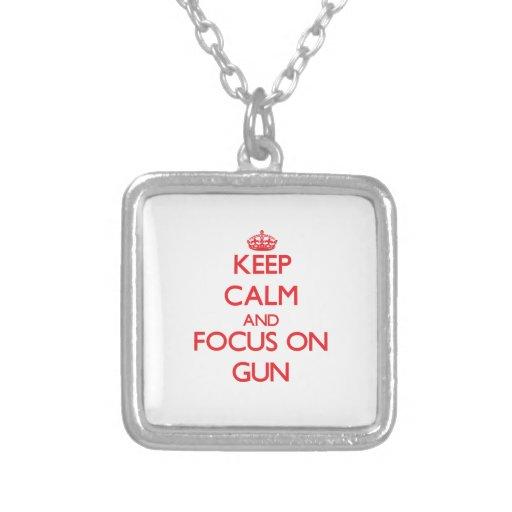 Keep Calm and focus on Gun Jewelry