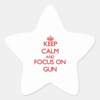 Keep Calm and focus on Gun Star Sticker