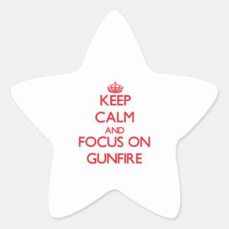 Keep Calm and focus on Gunfire Sticker