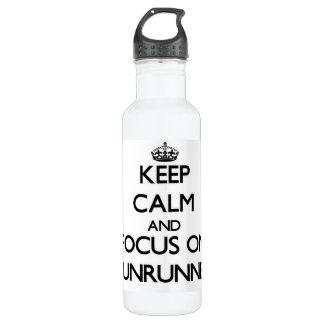 Keep Calm and focus on Gunrunner 24oz Water Bottle