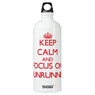 Keep Calm and focus on Gunrunner SIGG Traveler 1.0L Water Bottle