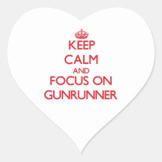 Keep Calm and focus on Gunrunner Heart Sticker