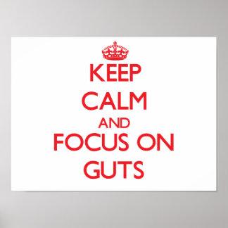 Keep Calm and focus on Guts Print