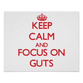 Keep Calm and focus on Guts Poster