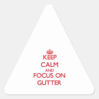 Keep Calm and focus on Gutter Sticker