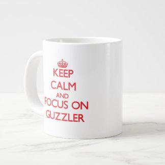 Keep Calm and focus on Guzzler Jumbo Mugs