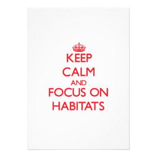 Keep Calm and focus on Habitats Invites