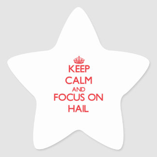 Keep Calm and focus on Hail Star Sticker