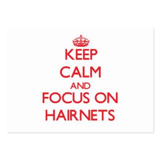 Keep Calm and focus on Hairnets Business Card Template
