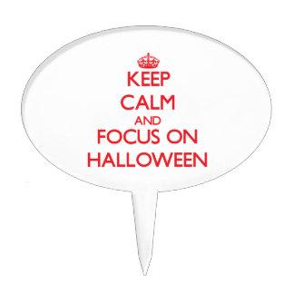 Keep Calm and focus on Halloween Cake Picks