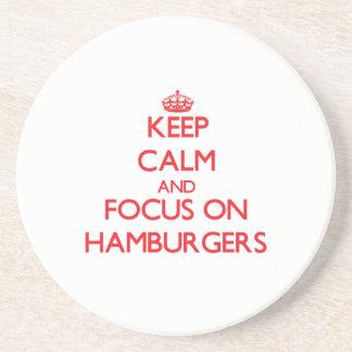 Keep Calm and focus on Hamburgers Coasters