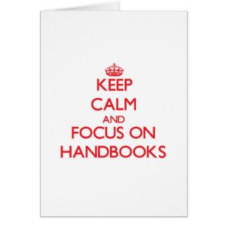 Keep Calm and focus on Handbooks Cards