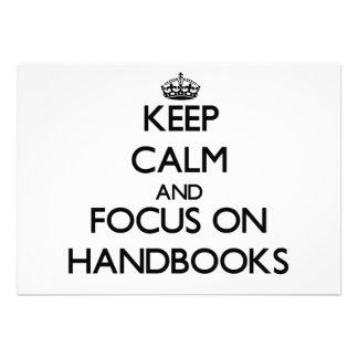 Keep Calm and focus on Handbooks Custom Invitations