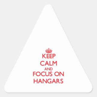 Keep Calm and focus on Hangars Triangle Sticker