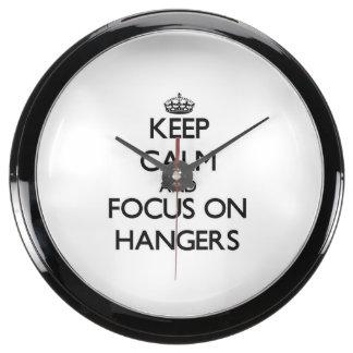 Keep Calm and focus on Hangers Fish Tank Clocks