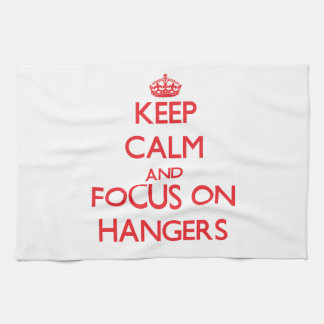 Keep Calm and focus on Hangers Hand Towels