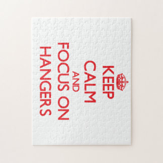 Keep Calm and focus on Hangers Jigsaw Puzzles