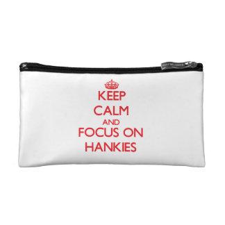 Keep Calm and focus on Hankies Makeup Bag