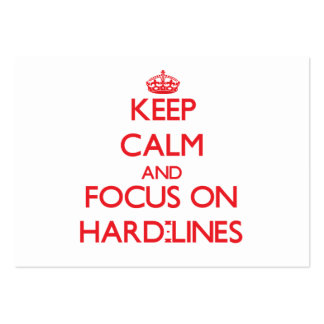 Keep Calm and focus on Hard-Lines Large Business Cards (Pack Of 100)