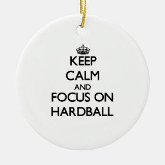 Keep Calm and focus on Hardball Ornaments