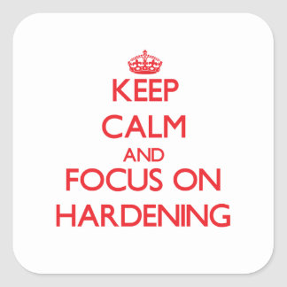 Keep Calm and focus on Hardening Sticker