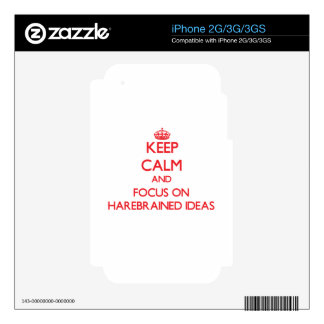 Keep Calm and focus on Harebrained Ideas Skin For The iPhone 3