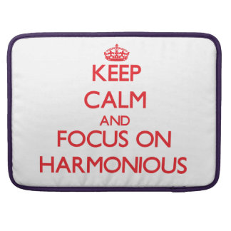 Keep Calm and focus on Harmonious Sleeve For MacBooks