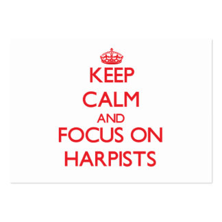 Keep Calm and focus on Harpists Business Card