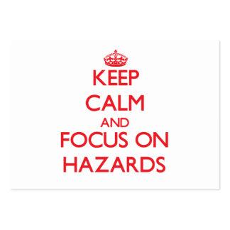 Keep Calm and focus on Hazards Business Card