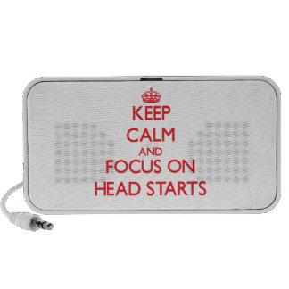 Keep Calm and focus on Head Starts Travel Speaker