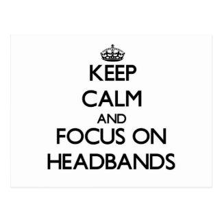Keep Calm and focus on Headbands Post Cards