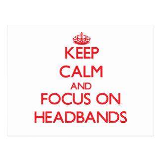 Keep Calm and focus on Headbands Postcard