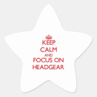 Keep Calm and focus on Headgear Star Stickers