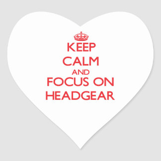 Keep Calm and focus on Headgear Stickers