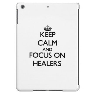 Keep Calm and focus on Healers iPad Air Covers