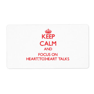 Keep Calm and focus on Heart-To-Heart Talks Custom Shipping Labels