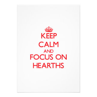Keep Calm and focus on Hearths Announcements