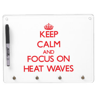 Keep Calm and focus on Heat Waves Dry Erase Whiteboards