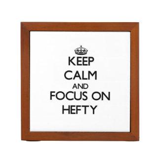 Keep Calm and focus on Hefty Pencil Holder